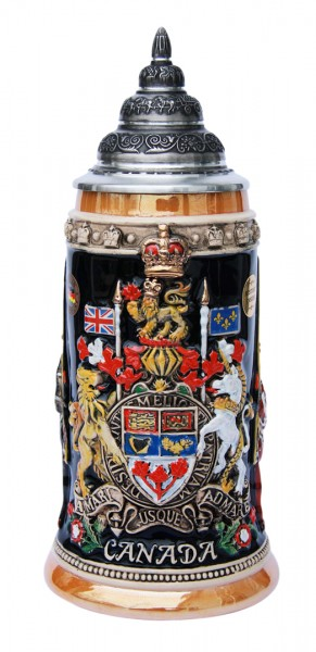 Canada beer stein yellow