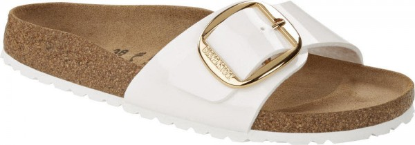 Madrid Big Buckle BF Patent Wh