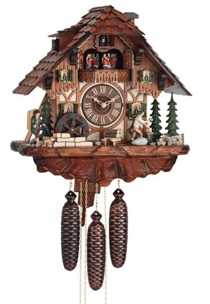Black Forest House Wood chopper cuckoo clock 3735/8