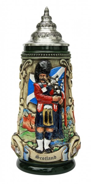 Scotland beer stein antik painted