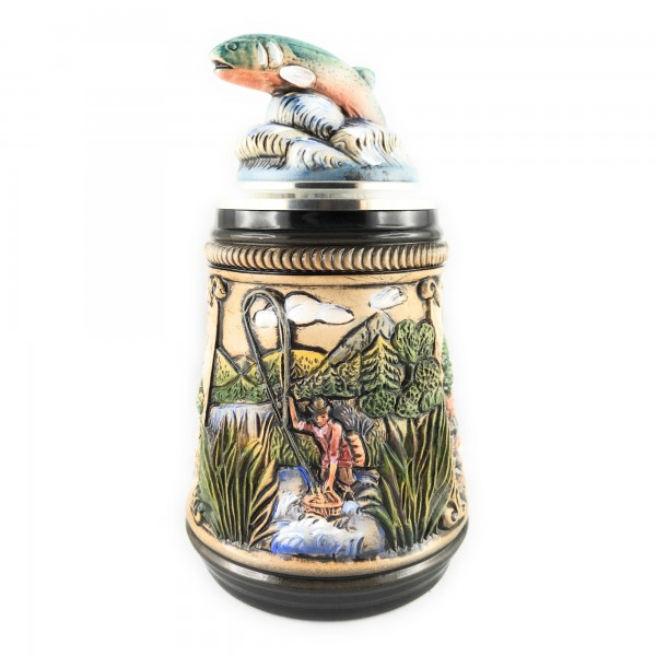Fisherman stein, with 3 different scenes in antik