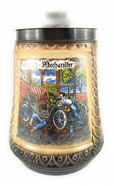 Car mechanic beer stein 0,5 liter