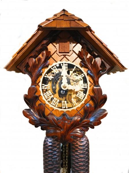 Plexiglas dial 8 day cuckoo clock