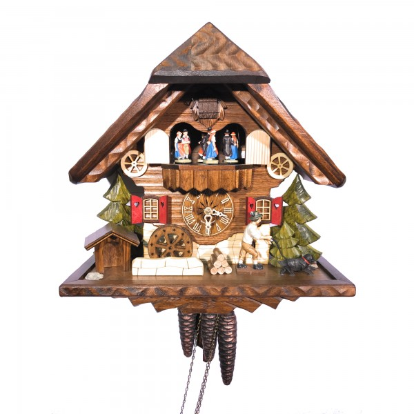 Walking the dog 1 day cuckoo clock with music