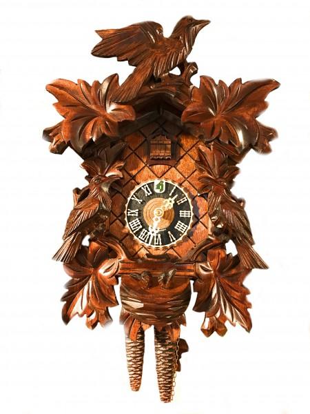 carved 3 bird nest 1 day cuckoo clock