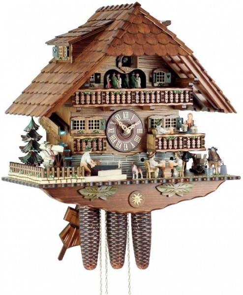 Black Forest guesthouse cuckoo clock 8TMT 1019/9
