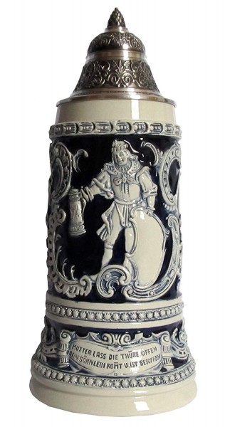 Fridolin Beer Stein Blue 0,75liter