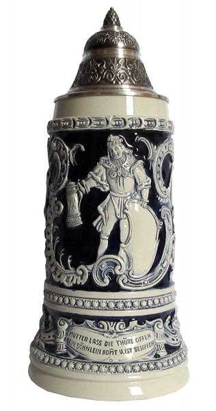 Fridolin Beer Stein Blue 0,75liter