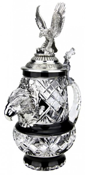 Lord of Crystal Stag Premium Collector Beer stein Stag lid & Hoof feet