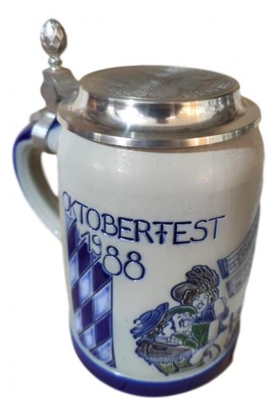 Oktoberfest 1988 salt glazed 0,5 liter beer stein