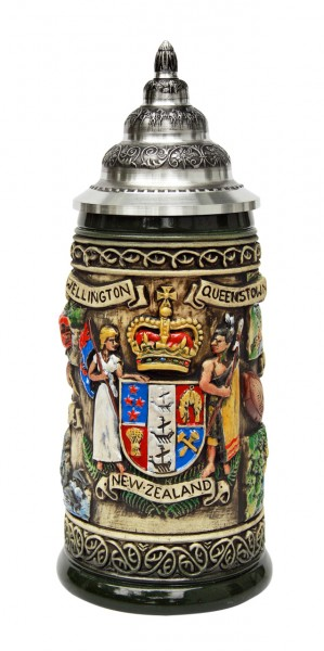 New Zealand beer stein antik painted