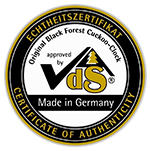 vds german cuckoo clock proof of quality certification