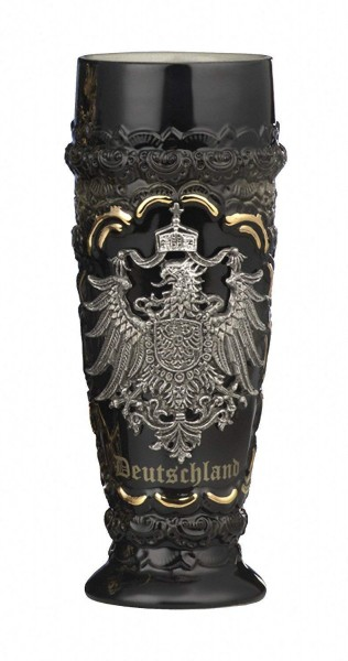Wheat beer stein Black Germany pewter Eagle 0,5