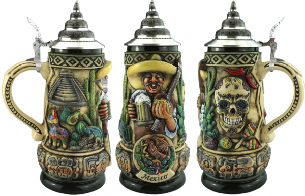 NEW release Mexico beer beer stein 0,5 Liter Rusti