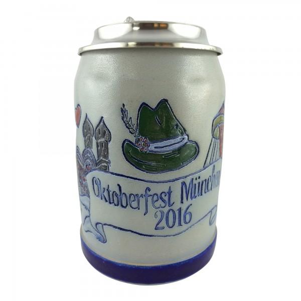 Oktoberfest 2016 salt glazed 0,5 liter beer stein