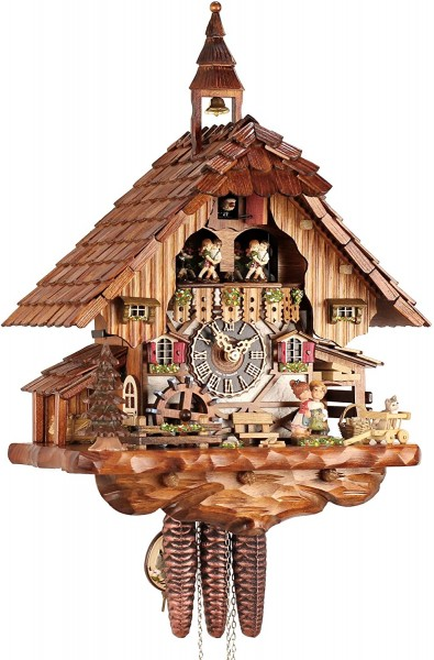One Day Kissing Couple Cuckoo Clock 6233T
