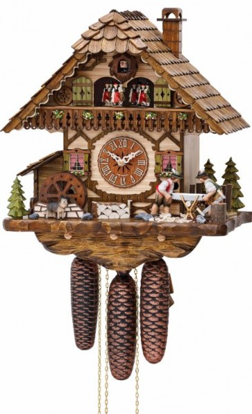 Moving woodsawyer Cuckoo Clock 3752/8