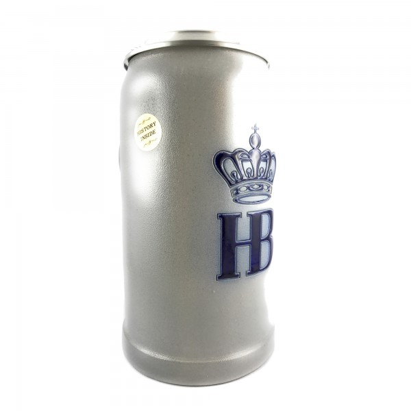 HB Hofbraeuhaus Salt glazed 1 Liter german large beer mug