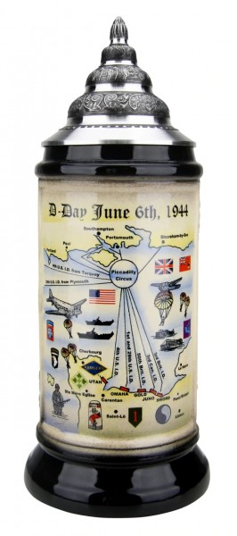 Anniversary of 75 Years D Day Beer Stein