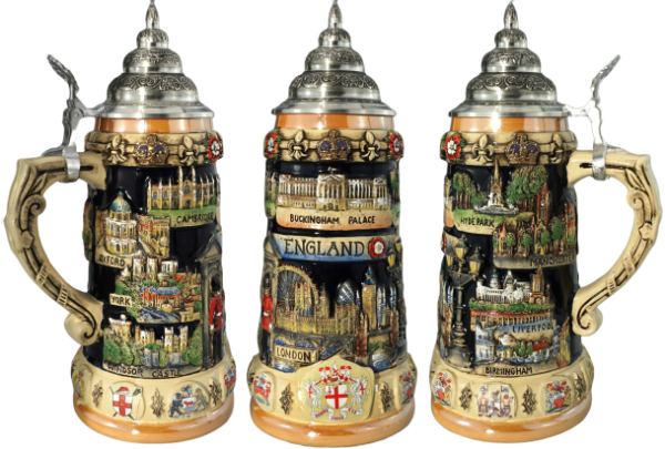England Great Britian NEW German Beer stein