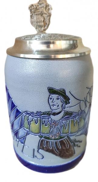 Oktoberfest 1989 salt glazed 0,5 liter beer stein