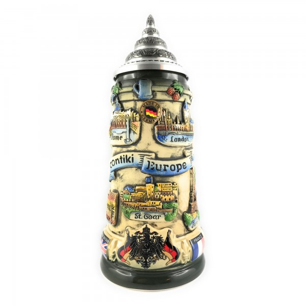 Contiki Europe 400ml antik painted german beer stein
