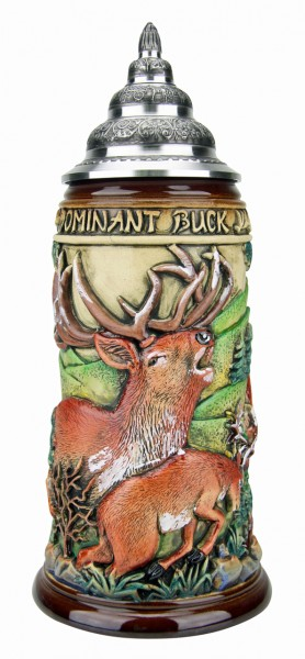 Dominat Buck beer stein antik painted