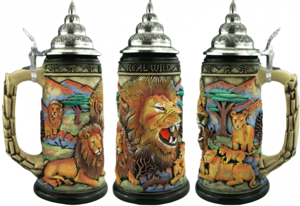 NEW release Lion beer beer stein 0,75 Liter Antik