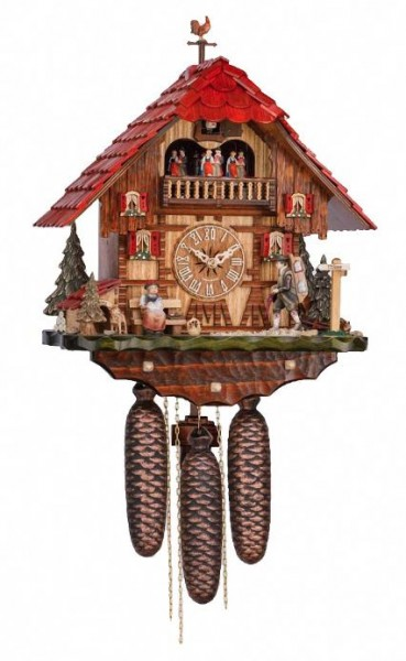 Clockpeddler Blackforrest lady cuckoo clock 3742/8