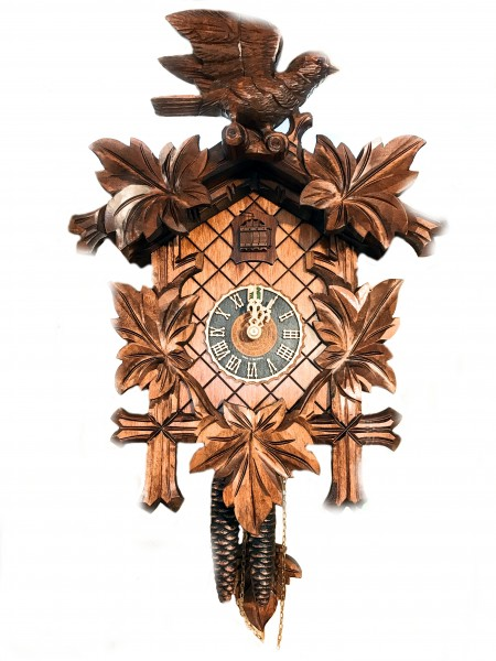 5 Maple leaf 3D Bird 1 day cuckoo clock
