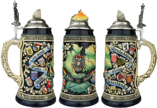 30 Years Reunification of Germany Beer stein