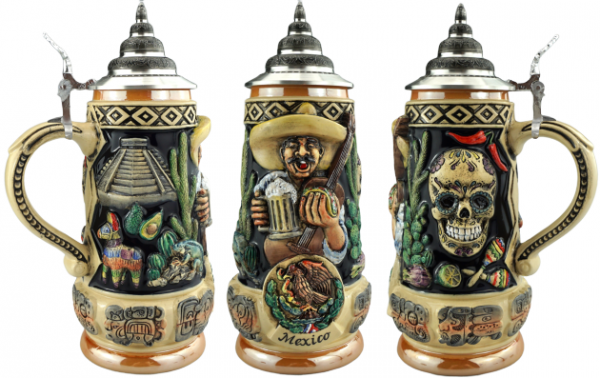 NEW release Mexico beer beer stein 0,5 Liter