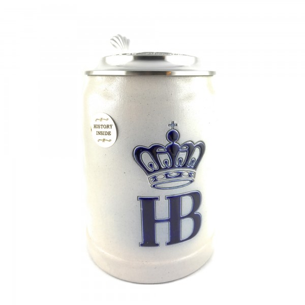 HB Hofbraeuhaus Salt glazed 0,5 Liter german beer mug
