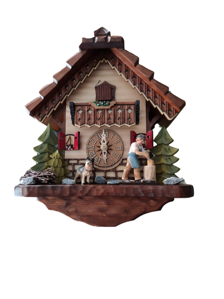 Wood chopper Cuckoo Clock 1 Day Limited Edtion