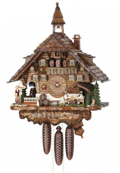 Black Forest House Beerdrinker cuckoo clock 3736/8