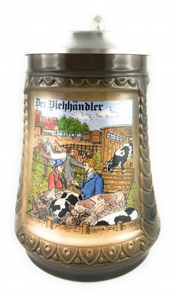 Cattle dealer beer stein 0,5 liter