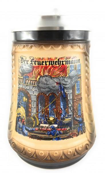 Fireman beer stein 0,5 liter