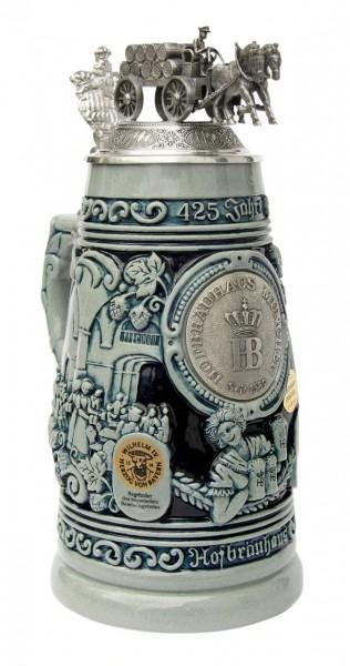 425 Year Hofbrauhaus HB Beer Stein Cobalt blue