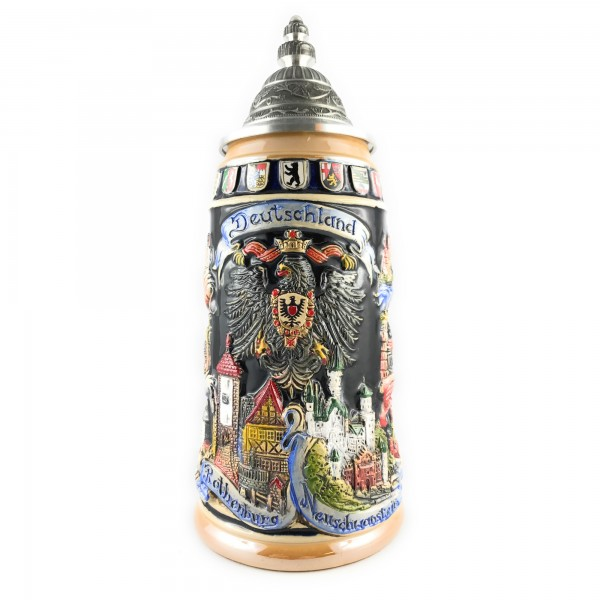 Germany stein with Eagle and famous city's surrounding it