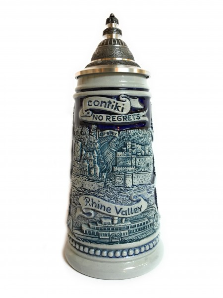 Contiki Europe 250ml blue painted beer stein