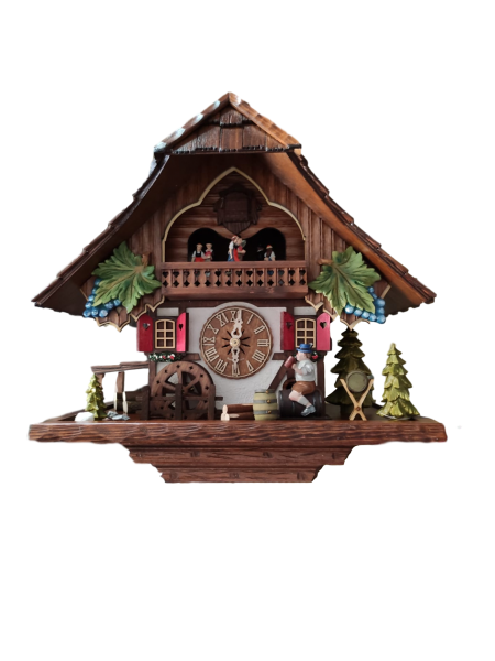 Wine drinker Cuckoo Clock 1 Day with Music Limited Edtion