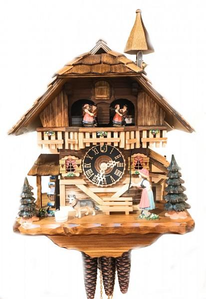 Black forest Gloecknerin with music 1 day cuckoo clock