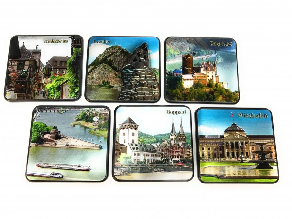 Coaster set Rhine Valley