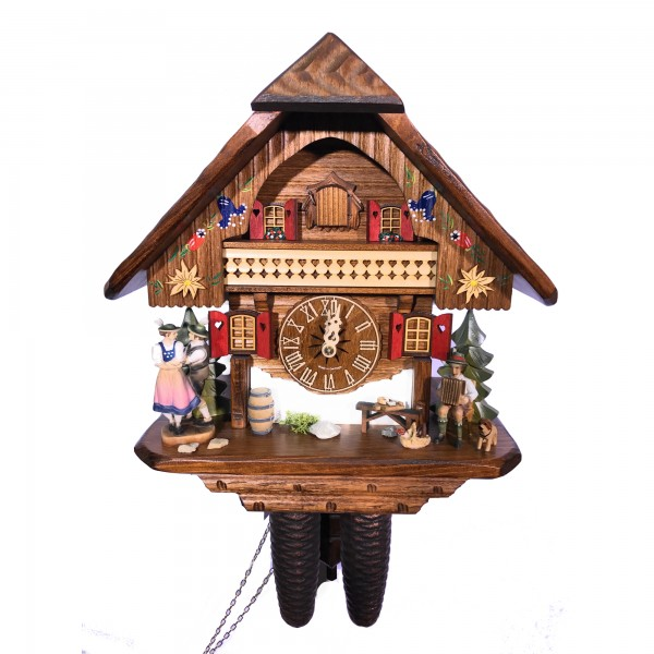 Dancing couple 8 day cuckoo clock