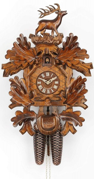 Hunting Cuckoo Clock standing stag