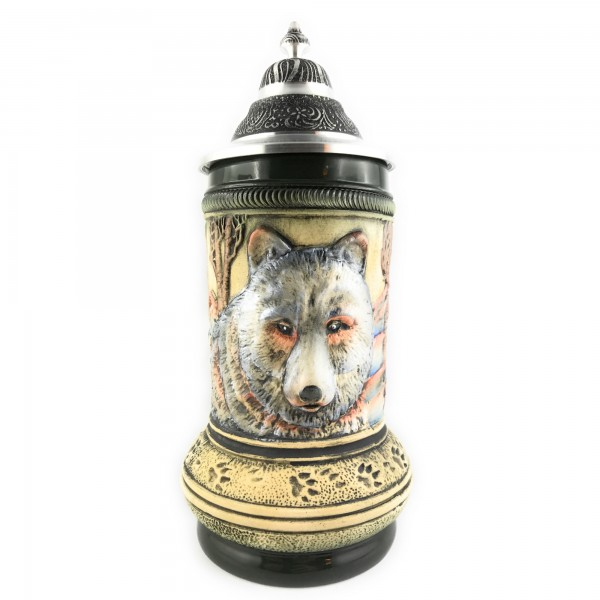 Wolf stein in antik style of painting