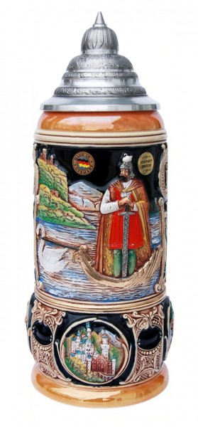 King Year Beer Stein 2001 Lohengrin Handpainted