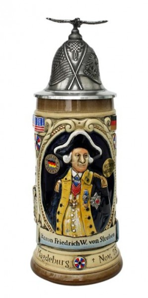 Baron Friedrich von Steuben German Beer Stein
