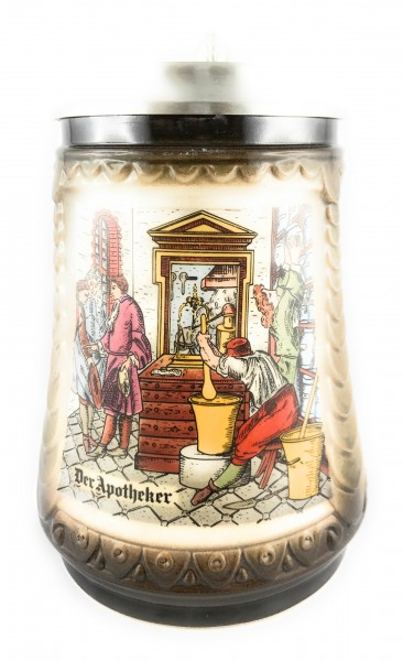 Pharmacist beer stein 0,5 liter
