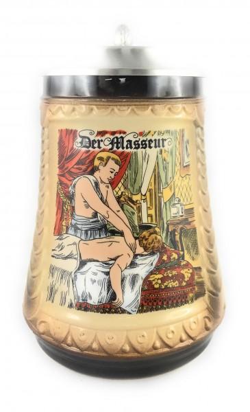 Masseur beer stein 0,5 liter